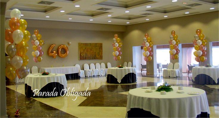 Fiesta de 40 a os decoraci n fiestas de adultos for Decoracion de fiestas para adultos