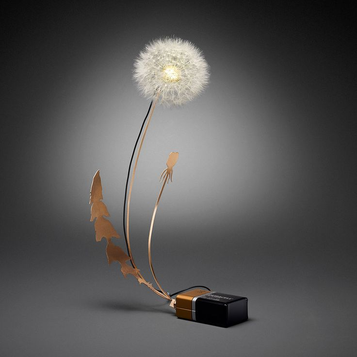 Dandelions as LED Light Fixtures, From Studio Drift