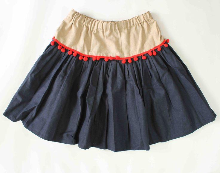 Pom Pom Dress (Dark Blue)