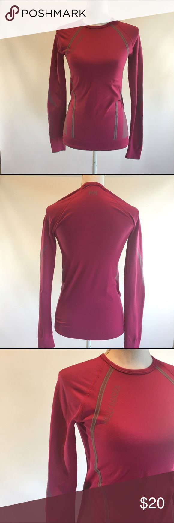 Helly Hansen Women's M Pink Base Layer Top Women's size medium.  Helly Hansen base layer.  In good condition with normal light wear Helly Hansen Tops Tees - Long Sleeve