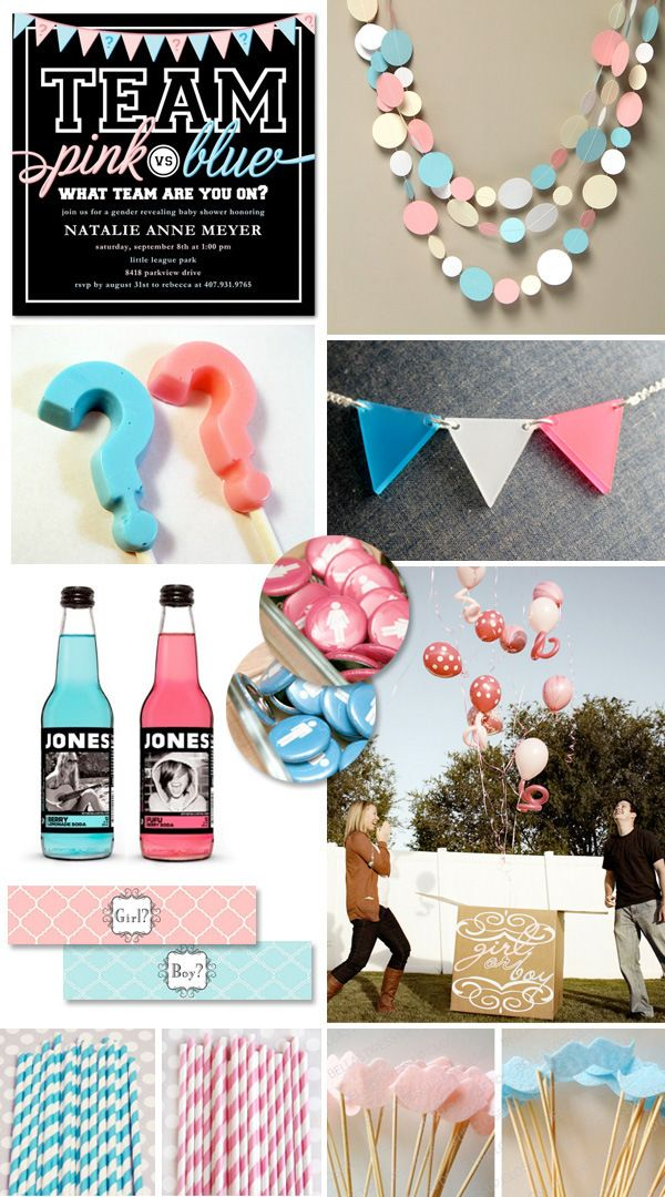 """Gender Reveal Party Ideas {""""Pink vs. Blue""""} was never really a fan of these parties but this is super cute!"""