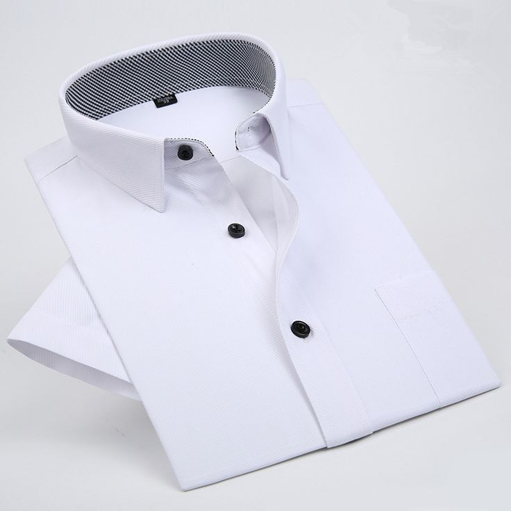 11 Solid Colors 2017 Short Sleeve Shirt Men Business Mens Dress Shirt Casual Formal Mens Shirts Brand Clothing Chemise Homme