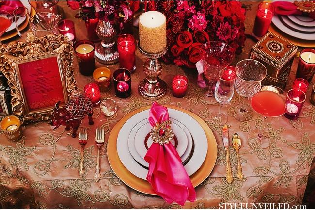 Bombay Dreams Wedding -- love the table napkin holder