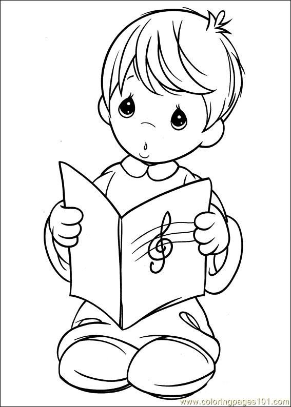 christmas precious moment coloring pages - photo#23