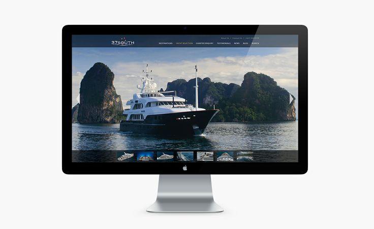 37South Superyacht Website Design by Onfire Design