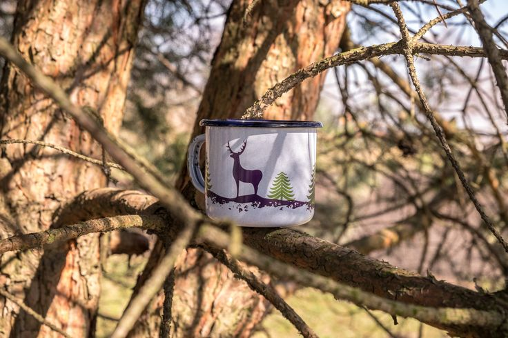 Emalco Enamelware FOREST Deer Mug