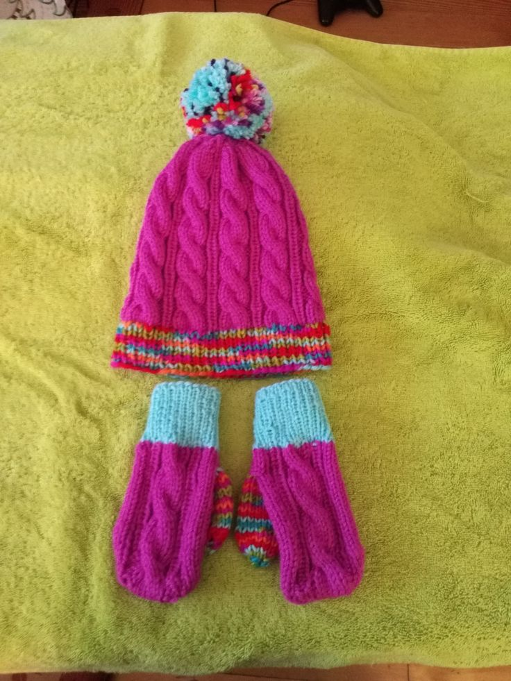 Hat and mittens for 4 year old