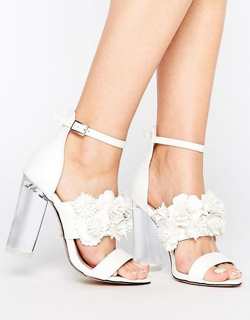 Lost Ink Monika Floral Heeled Sandals