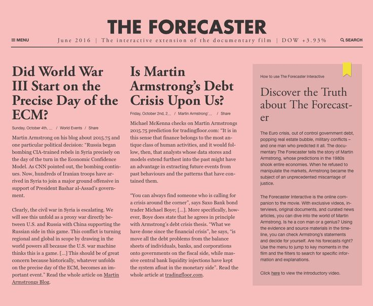 The Forecaster — The interactive extension of the documentary film