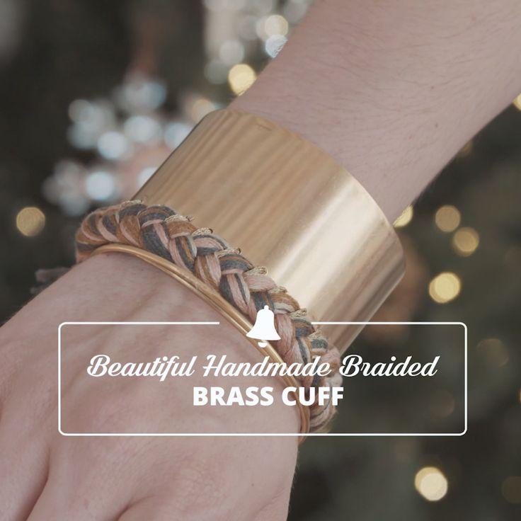 Homemade Holiday Gift Ideas: Braided Brass Cuff Bracelet