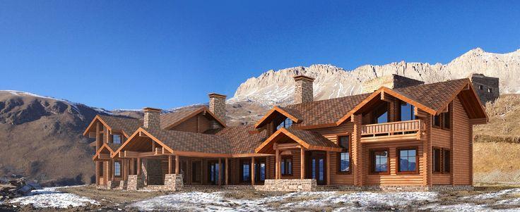 Проект отеля в горах Осетии