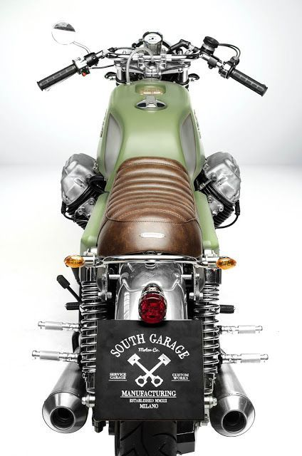 Moto Guzzi 850 Cafe Racer T4 Designed by South Garage #motorcycles #caferacer #motos   caferacerpasion.com