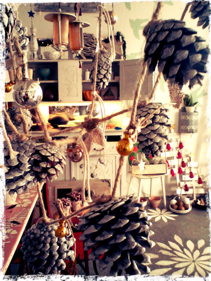 Unique hand made - one of a kind christmas decor this year at the store!!! Love it!