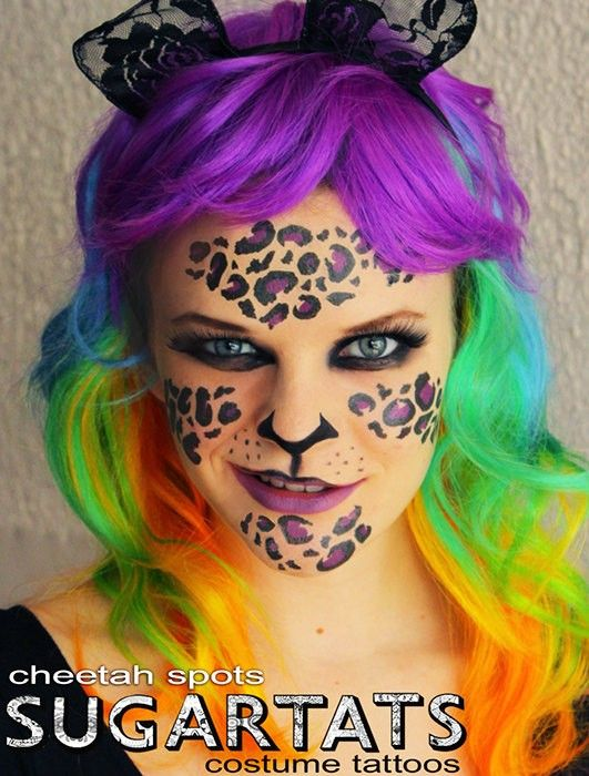 309 best you must learn 2014 new style halloween makeup for Halloween makeup tattoos