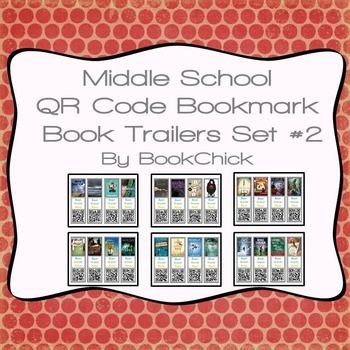 329 best qr codes in education images on pinterest augmented middle school qr code bookmark book trailers set 2 fandeluxe Images