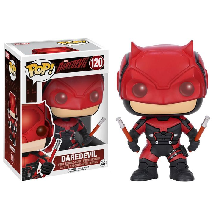 Funko Marvel Daredevil POP Red Daredevil Bobble Head Vinyl Figure