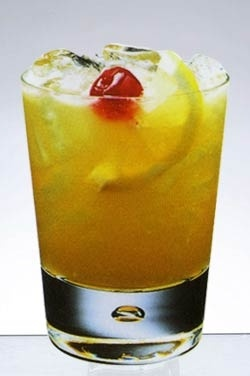 amaretto sour - very sweet: OJ amaretto liquor & a splash of sweet and sour mix.