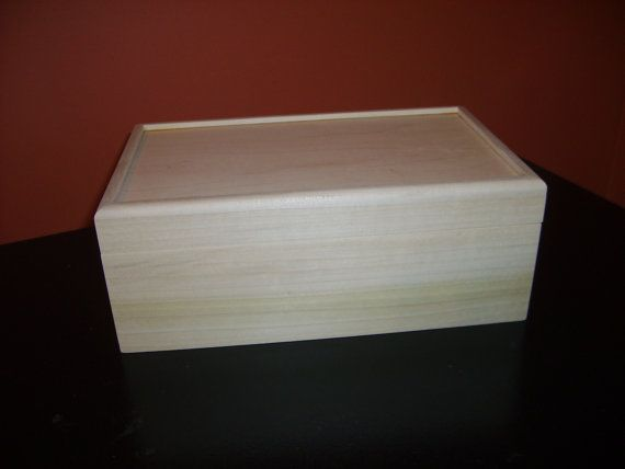 Unfinished Wood Box with Hinges10x6 x3 3/4 by designcraftindustrie, $15.95