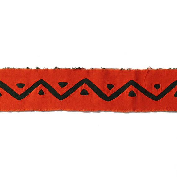 Fabric Supplies. Reverse Applique Long Band Bright Orange and