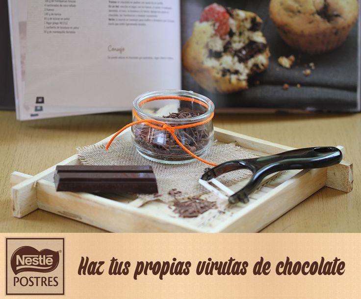 Haz tus propias virutas de chocolate