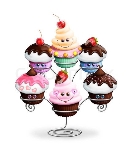 cute cartoon kids birthday cupcakes - Cartoon Kid Images