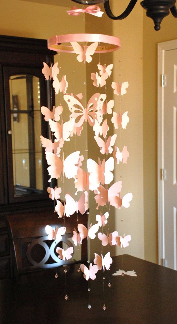 3D paper butterfly mobile room decoration by weiweidecorations, $65.00