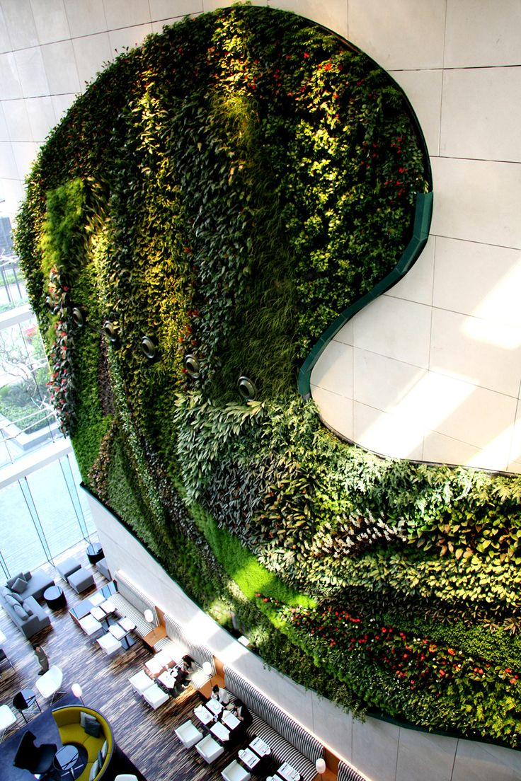 Livewall green wall system make conferences more comfortable - Enormous Vertical Garden Icon Hotel Hong Kong By Patrick Blanc The Vertical Garden Can Be Used As An Impressive Outdoor System Or Can Be Used Indoors