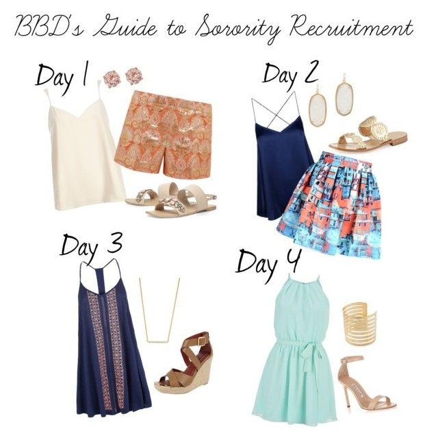 """BBD's Guide to Sorority Recruitment"" by borrowedbydesign on Polyvore"