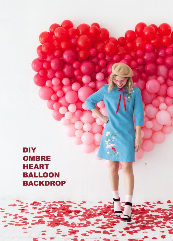 Giant Ombre Heart Balloon Backdrop | Oh Happy Day! | Bloglovin'