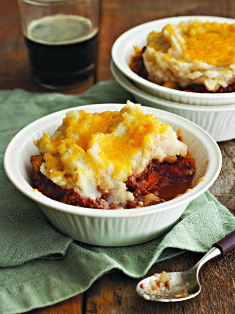 Shepherds Pie with a Red Wine, Cheddar and Root Vegetable Topping