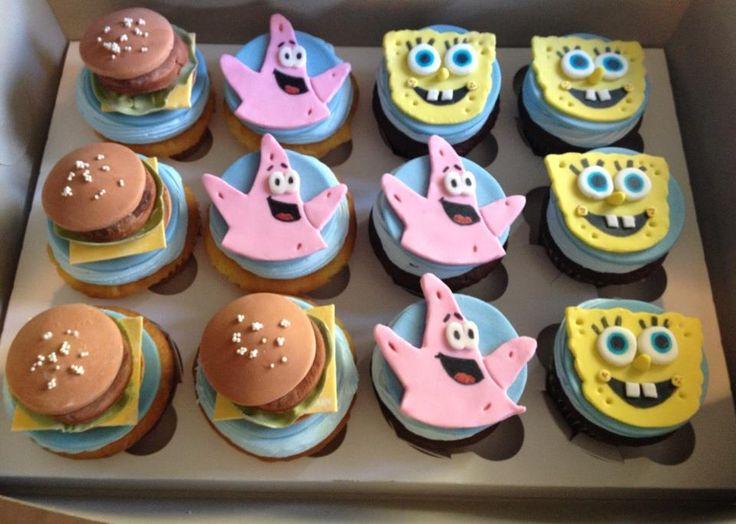 Sponge Bob Cupcakes #sugarbuzz #sugarbuzzcakes