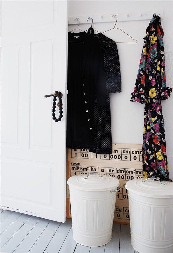 shallow entryway - dog food bins