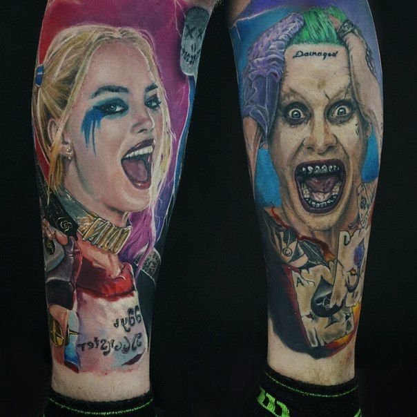 Image result for harley quinn and joker tattoo