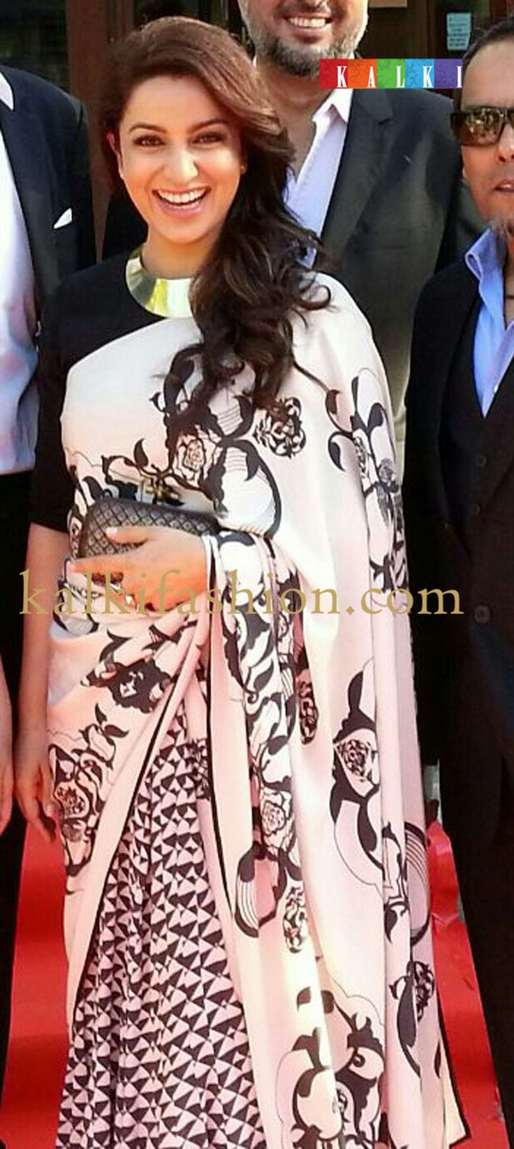 http://www.kalkifashion.com/       Tisca Chopra in a Payal Singhal Saree attending the screening of her movie QISSA at TIFF