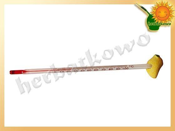 Termometr do herbaty   www.herbatkowo.com.pl  Ekologiczny, bo spitytusowy termometr do mierzenia temperatury wody. Można mierzyć temperaturę cieczy do 100 stopni Celsjusza. Nieodzowne akcesorium w każdym domu, a cena niewielka, więc warto kupić.