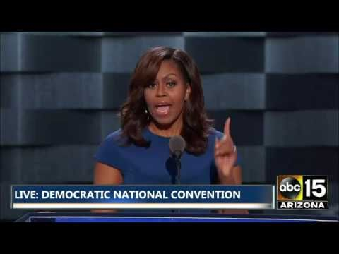 FULL: Emotional Michelle Obama Speech - Cries over Daughters - Democratic National Convention - YouTube