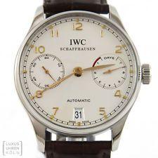 IWC Uhr Portugieser Chronograph Automatic Herrenuhr 7 Day Ref. IW 500114