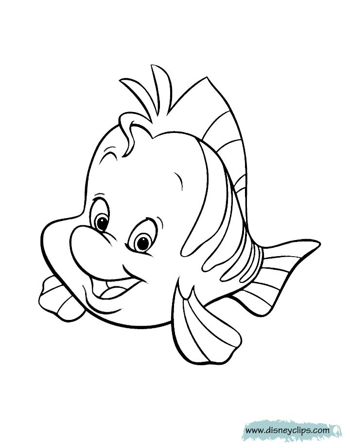 The Little Mermaid Printable Coloring Pages Disney
