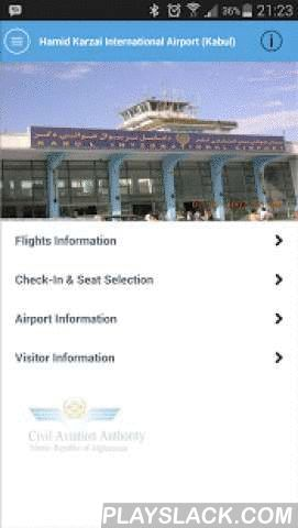 ACAA  Android App - playslack.com ,  This is the Official App of Afghanistan Civil Aviation Authority (ACAA). Use this app to access information related to Hamid Karzai International Airport formerly known as Kabul International Airport. Receive live flight information updates, complete check-in and seat selection process, access information related to airport facilities (Duty free, lounges, transportation, internet), access visitor information (visa info, tourism & places of interest)…