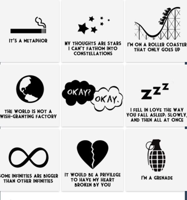 The Fault In Our Stars things. You won't understand until you read the book.