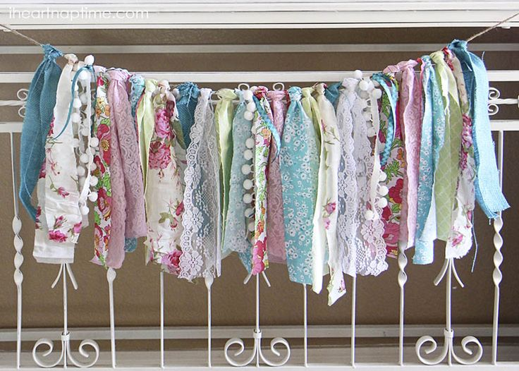 Fabric scrap DIY banners
