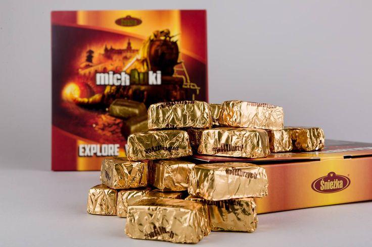 """#goldtrain sweets called """"MichAuki"""" - availible on: www.sklep.ksiaz.walbrzych.pl"""