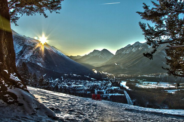 Winter is a wonderful time for weddings in Banff.   #banff #wedding #mountains #bride #scenery #photos