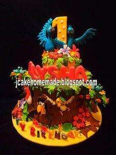 Rio birthday cake by Jcakehomemade, via Flickr