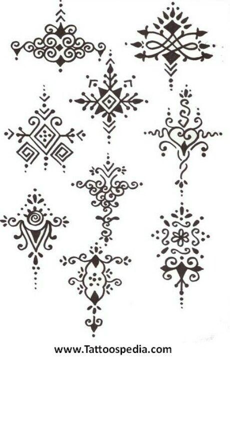 Henna Motive groß/klein