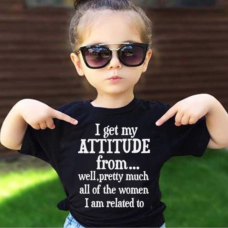 Cute little girls Attitude shirt