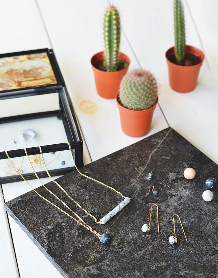 DIY | Marmeren sieraden