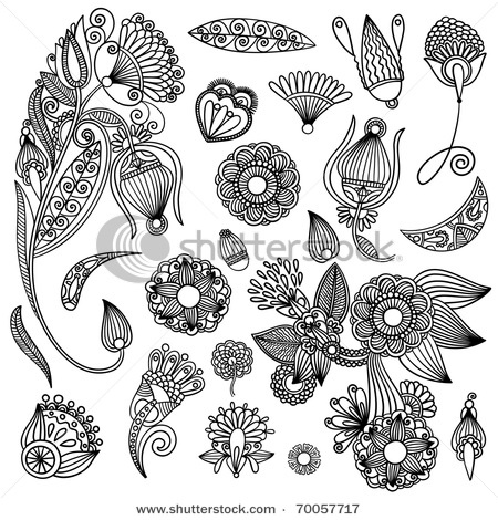 Not actually zentangles but good inspiration for my doodles.  Set of black flower design