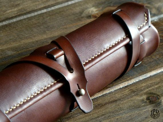 This leather pencil case is cut from high quality 3-4oz cow hide, made-to-order, and they can store pencils / tools up to 30cm long - It can also be used