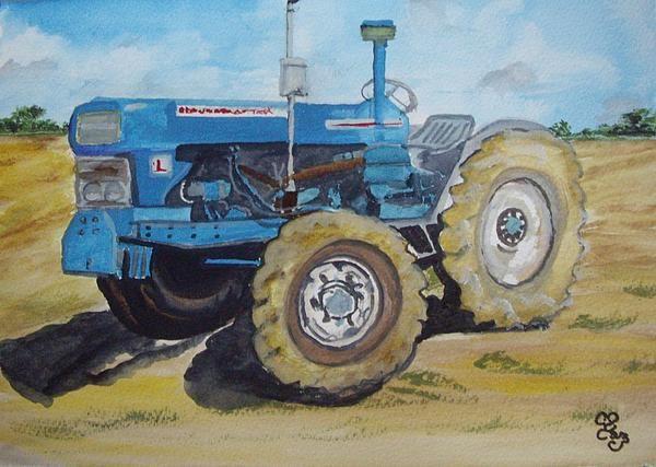 Stoney Broke Farm watercolour, from a photo by my friend, Steve West